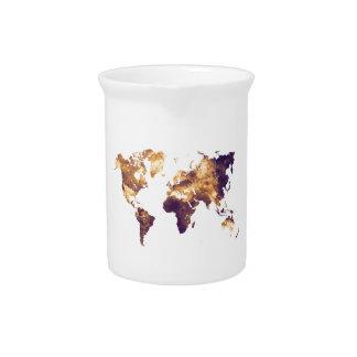 world map pitcher