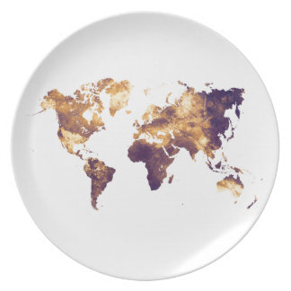 world map plate