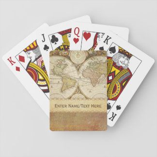 World Map Poker Deck