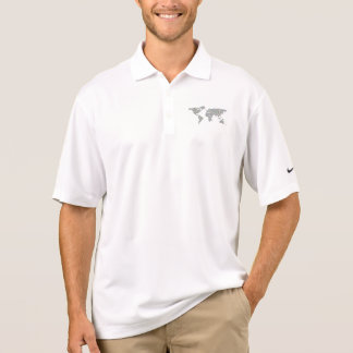World map polo shirt