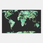 World Map Rectangular Sticker