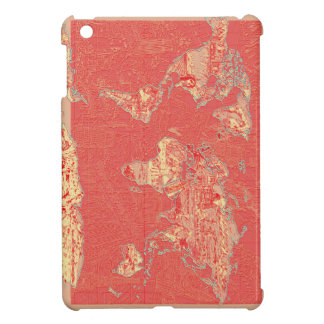 world map red cover for the iPad mini