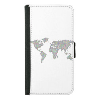 World map samsung galaxy s5 wallet case