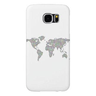 World map samsung galaxy s6 cases