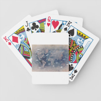 world map sealife bicycle playing cards