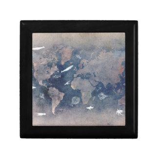 world map sealife gift box