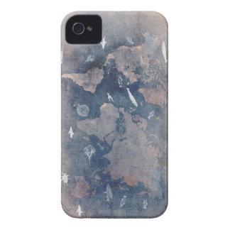 world map sealife iPhone 4 case
