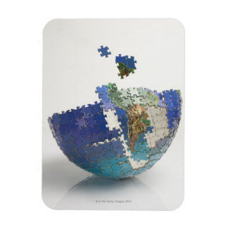 World Map, South America Rectangular Photo Magnet