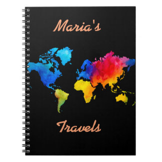 World Map. Spiral Notebook