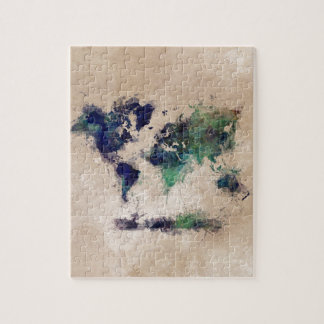world map splash jigsaw puzzle