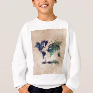 world map splash sweatshirt