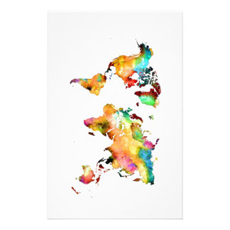 world map stationery
