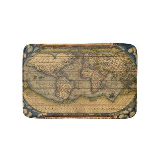 World map Theatrum Orbis Ancient Travel Bathroom Mat