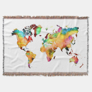 world map throw