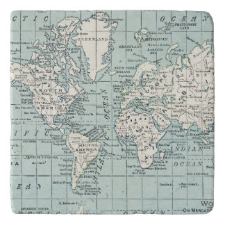 World Map Trivet