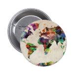 World Map Urban Watercolor Pins