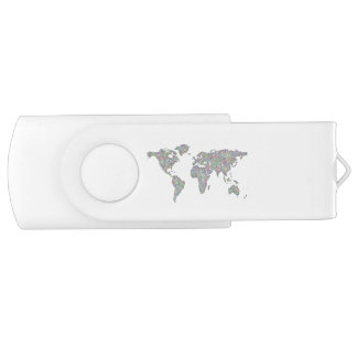 World map USB flash drive