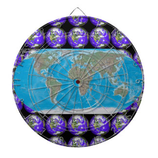 World Map Vacation Destination Dartboard