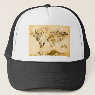 world map vintage 1 trucker hat