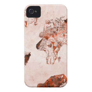 world map vintage 3 Case-Mate iPhone 4 cases