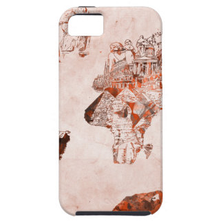 world map vintage 3 iPhone 5 cover