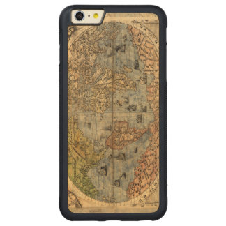 World Map Vintage Atlas Historical Continents Carved Maple iPhone 6 Plus Bumper Case