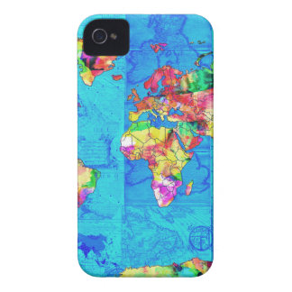 world map watercolor  10 iPhone 4 case