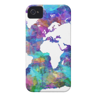 world map watercolor  13 iPhone 4 case