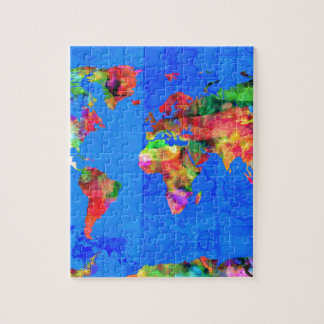 world map watercolor  1 jigsaw puzzle