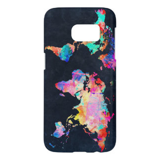 world map watercolor 21 samsung galaxy s7 case