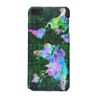 world map watercolor 23 iPod touch (5th generation) cases
