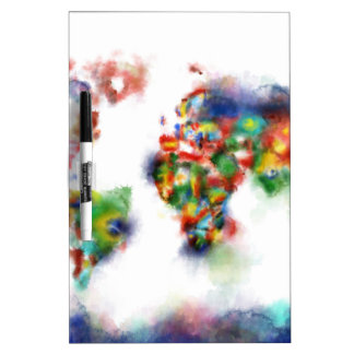world map watercolor 24 Dry-Erase whiteboard