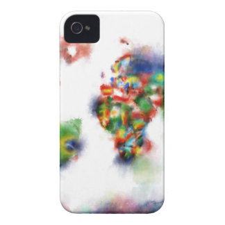 world map watercolor 24 iPhone 4 Case-Mate case