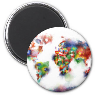 world map watercolor 24 magnet