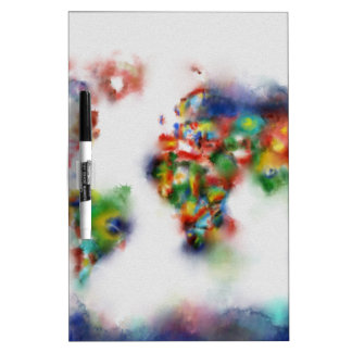 world map watercolor 25 Dry-Erase board