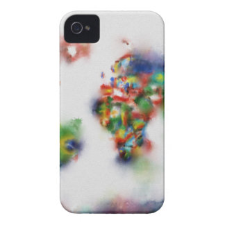 world map watercolor 25 iPhone 4 Case-Mate cases