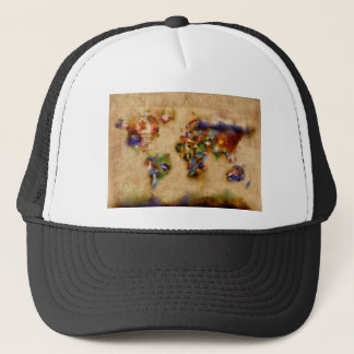 world map watercolor 26 trucker hat