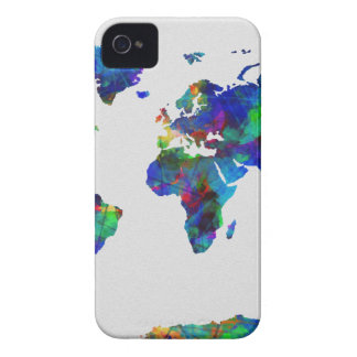 world map watercolor 29 iPhone 4 Case-Mate cases