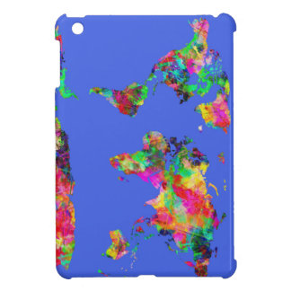 world map watercolor 30 iPad mini covers