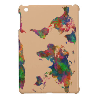 world map watercolor 31 iPad mini covers
