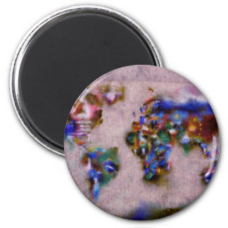 world map watercolor 32 magnet