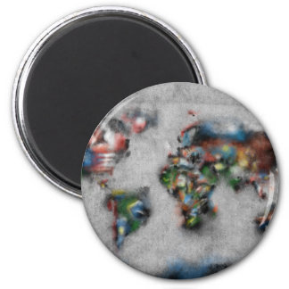 world map watercolor 33 magnet