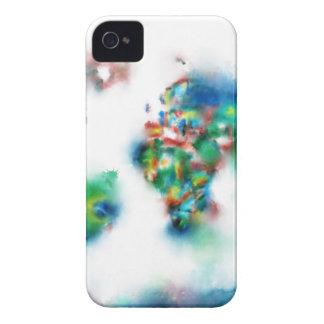 world map watercolor 34 iPhone 4 Case-Mate cases
