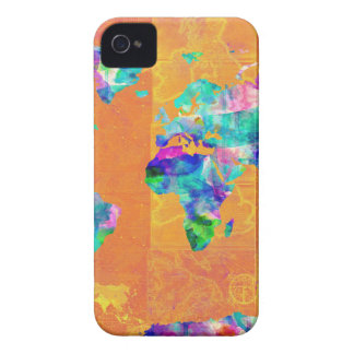 world map watercolor 3 iPhone 4 case