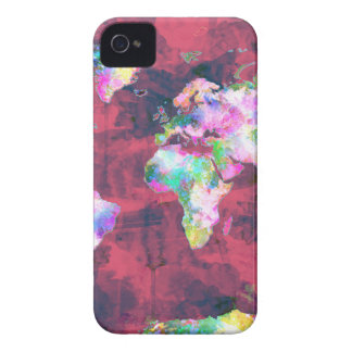 world map watercolor 8 Case-Mate iPhone 4 case