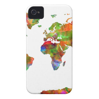 world map watercolor 9 iPhone 4 cover