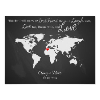 world map wedding guest book signing board wood poster