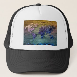 world map wood 10 trucker hat