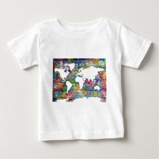 world map wood 12 baby T-Shirt