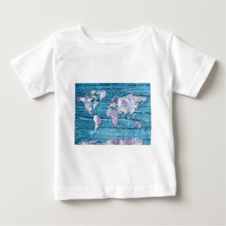 world map wood 15 baby T-Shirt